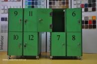 Локеры и шкафчики из hpl панелей FunderMax